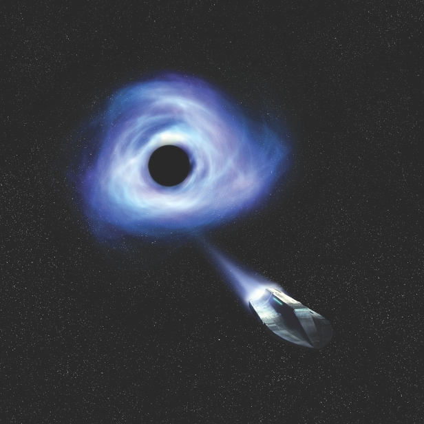 Could a spacecraft escape a black hole?