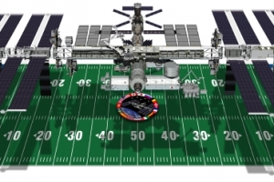 ISS and football field