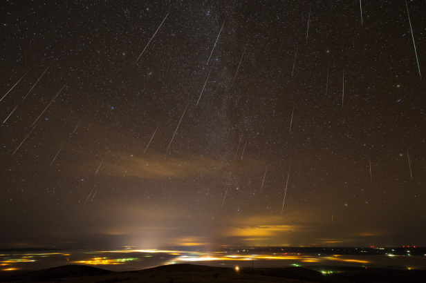 The Geminids, as pictured here, are the best meteor shower of the year with up to 120 meteors per hour.