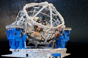 High-resolution photo of the E-ELT LEGO model