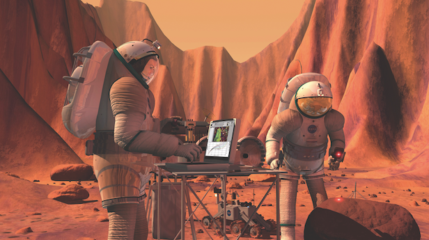 You could be waiting for half an hour for a Google search result on Mars. Image Credit: NASA