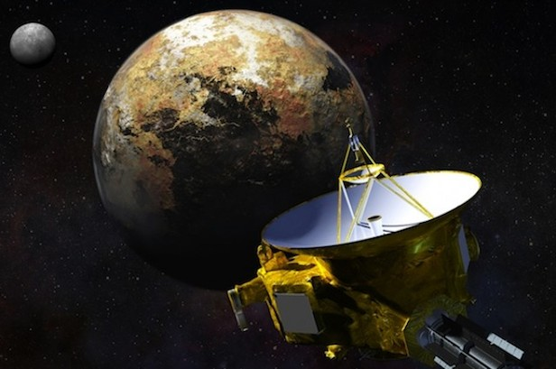 An artist's impression of the New Horizons spacecraft at Pluto. Image Credit: NASA