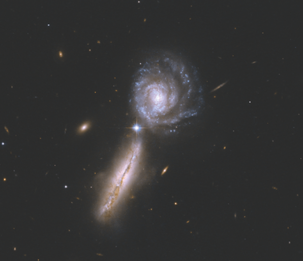 Face-on and edge-on galaxies can be found in the universe. Image Credit: NASA