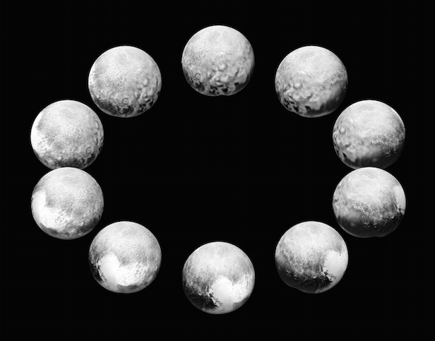 NASA's New Horizons spacecraft captured the dwarf planet rotating over the course of a full Pluto day. Image Credit: NASA/JHUAPL/SwRI
