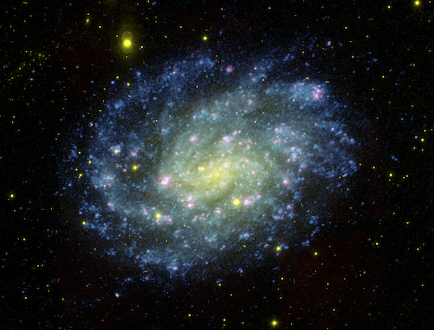The galaxy NGC 300, home to the unusual system Binder and her colleagues studied. The spiral galaxy is over 6 million light years away. Image Credit: NASA/JPL-Caltech/OCIW