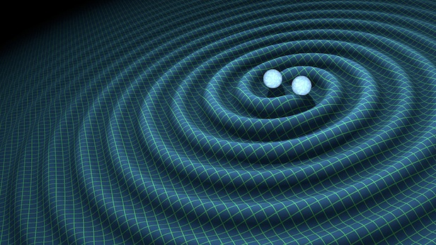 The detection of gravitational waves confirms Einstein's general theory of relativity. Image Credit: LIGO
