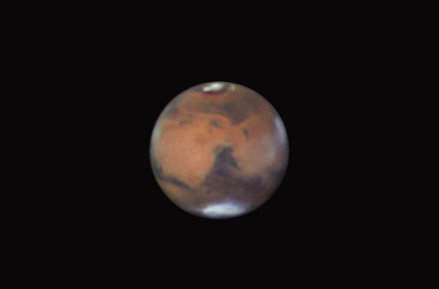 An amateur shot of Mars. Image Credit: Efrain Morales