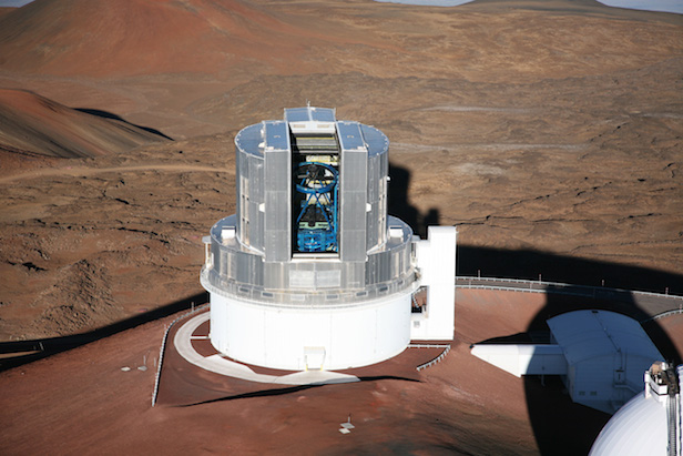 The Subaru Telescope at the summit of Maunakea, Hawaii. Image Credi: NAOJ