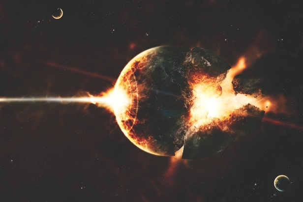 astronaut earth blowing up - photo #15