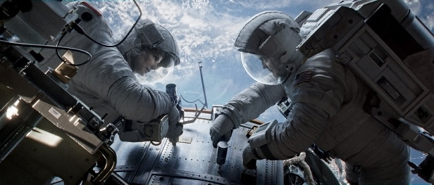 Gravity stars Sandra Bullock as engineer Dr. Ryan Stone and George Clooney as veteran astronaut Matt Kowalsky