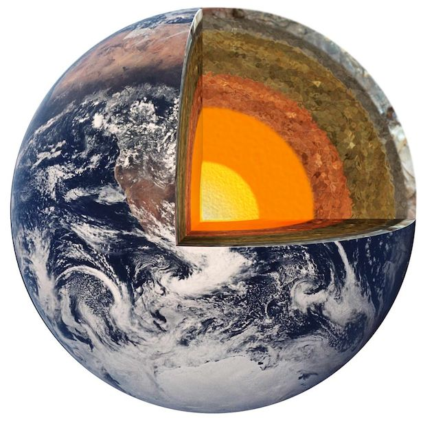 Travelling to the Earth's core would only make you weightless if our planet was a perfect sphere of uniform density.