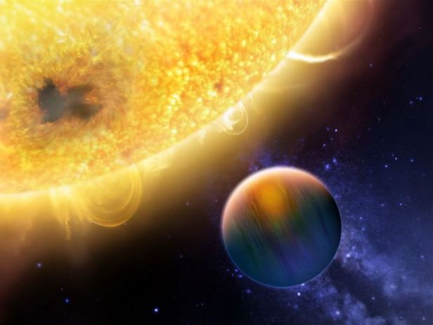 Hot Jupiters are huge worlds made of gas that are heated to high temperatures by their star
