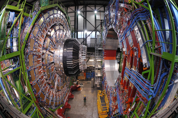 The Compact Muon Solenoid (CMS) detector of the Large Hadron Collider is helping us to figure out where the antimatter went