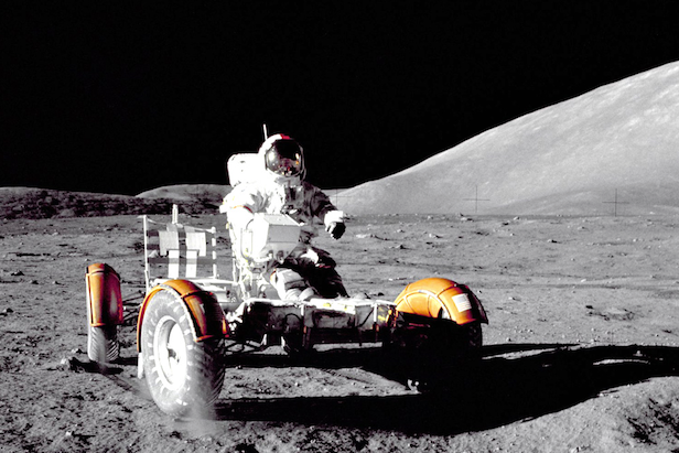 The Moon buggy drove across the Lunar surface during the Apollo 15, 16 and 17 missions