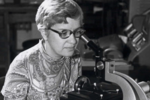 Rubin, who is most famous for her inferring the existence of dark matter, is seen here measuring spectra