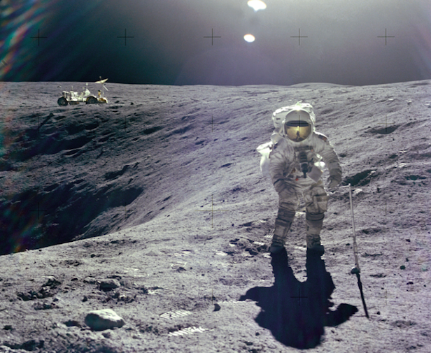 Duke on the surface of the Moon. Image Credit: NASA
