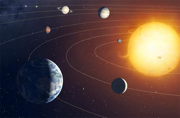 The outer planets are thought to have formed closer to the Sun than their current positions