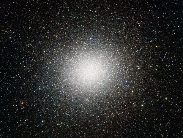Star-packed globular cluster, Omega Centauri, is a hefty star cluster with a mass of 5 million Suns. Image Credit: NASA
