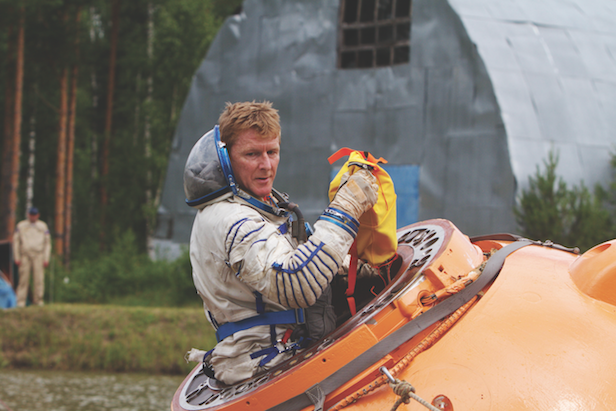 Peake during a water survival training session near Star City, Russia, during 2014. Image Credit: ESA