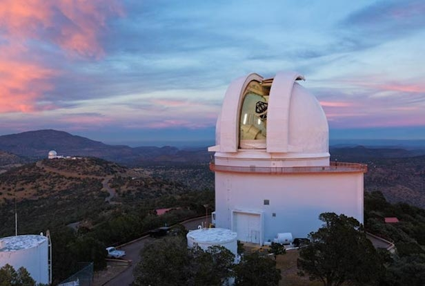 Astronomers used the Harlan J. Smith Telescope at the University of Texas at Austin's McDonald Observatory near Fort Davis, Texas, to search for planet PTFO8-8695 b. Image Credit: Ethan Tweedie Photography
