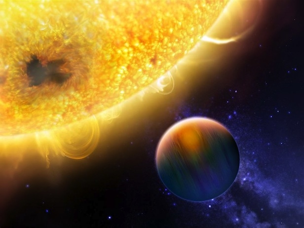 An artist's impression of an exoplanet in a tight orbit around its star. Image Credit: NASA